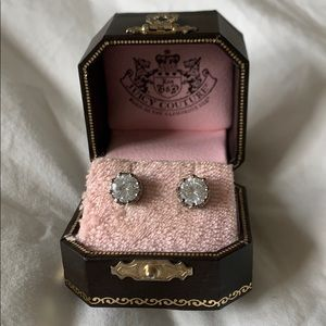 Juicy Couture Crown Solitaire Earrings